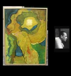 Carl Latimer African-american 1924 Yellow Green Composition. 1960s.