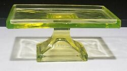 Antique Vaseline Glass Teaberry Gum Store Display Stand