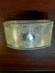 Antique Continental 800 Silver Napkin Ring L Initial Engraving