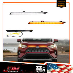 Switchback Front Sequential Amber Led Drl Turn Signal Lamp For 19-21 Toyota Rav4