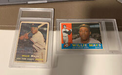 Lot Of Two Willie Mays Baseball Cards New York Giants Vintage