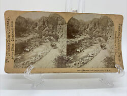 Antique Stereoview Card American Fork Canyon-1897 Wasatch Utah