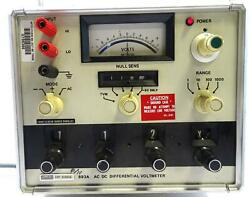 Fluke 893a Ac-dc Differential Voltmeter-free Shipping-
