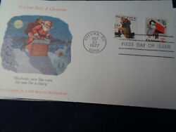 1729-1730 Fdc 13c 1977 Xmas Pair 1 Cover Fleetwood/visit From St Nick Cachet U/a