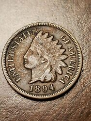 1894 Indian Head Cent Penny