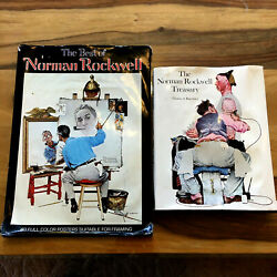 The Best Of Norman Rockwell And The Norman Rockwell Treasury- 2 Book Lot Hardcover