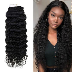 Pu Tape In Hair Piece Curly Tape Hair 100 Remy Human Hair Extensions 20pcs/50g