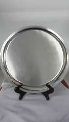Vintage Pewter Serving Tray Plate