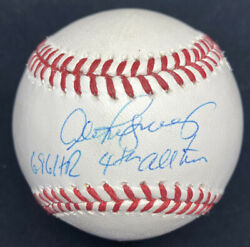 Alex Rodriguez 696 Hr 4th All Time Signed Baseball Steiner Sports Hologram Holo