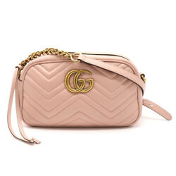 Guccigg Marmont Shoulder Bag Diagonal Multiplication Chain Bag Quilted Leath