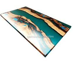 Home And Livening Table Olive Wood Dinning Table Resin Table Elegant Table Art