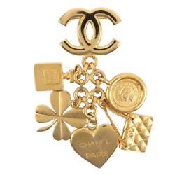 Icon Vintage Heart / Clover / Matrasse Brooch Gold Plated Women