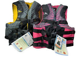 Stearns Infinity Series Pink And Yellow Boating Life Vest Size 2xl/3xl Lot Of 2