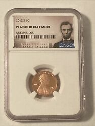 2012-s Lincoln Proof Cent 1c Ngc Pf 69 Rd Ultra Cameo Shield On Reverse