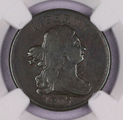 1807 Draped Bust Half Cent Copper Us Coin Ngc Vf30 Bn