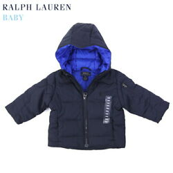 Polo Baby Hooded Down Puffer Jacket Coat With Pony - Size 9m To 24m