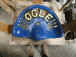 Ogle Vintage Cast Iron Tractor Implement Seat Collectibles