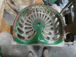 San Fransico Vintage Cast Iron Tractor Implement Seat Collectibles