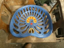 Patent Vintage Cast Iron Tractor Implement Seat Collectibles