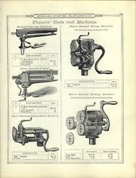 1895 Paper Ad 16 Pg Vintage Antique Tinners' Stow's Raymond's Tools Machines Tin