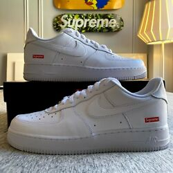 Nike Air Force 1 Low Supreme White Cu9225-100 Size 9 And 11 Ships Today