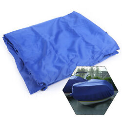 420d 11.4ft Sailboat Cover Sail Cover Mainsail Boom Protector Cover Blue
