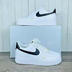Nike Air Force 1 Low And03907 White Black Gold Metallic Cz0270-102 Womenand039s Size 6-12