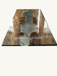 Conference Epoxy Clear Resin Table Dining And Coffee Custom Table Acacia Wood Deco