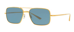 Oliver Peoples Victory La Ov1246st Sunglasses Brushed Gold/teal Polarized New