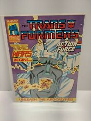 The Transforners And The Action Force 1989 Jan 7th No. 199 Time Wars Marvel Comic
