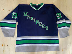 Vtg Mariners Hockey Sewn Jersey Size Xl Maine, Whalers, Seattle