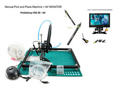 Smt Pick And Place Machine - Picksoeasy Pse-20 With 2 Av Micr. And 1 9 Tft