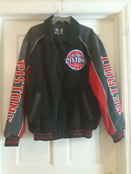 G-iii Sports Detroit Pistons Leather Suede Jacket Xl