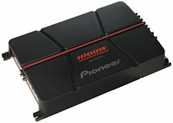 Pioneer Gm-a6704 4-channel Bridgeable Amplifier With Bass Boostblack/red