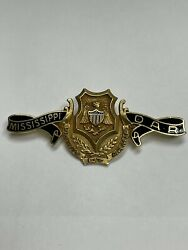 Daughters Of The American Revolution 14k Mississippi Dar State Pin