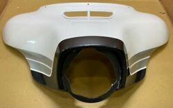 Nos Harley Outer Fairing Blizzard White Pearl/storm Cloud/lighting Silver