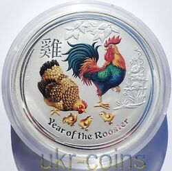 2017 Australia 30 Lunar Ii Year Of The Rooster 1 Kilo Kg Silver Colored Coin Bu