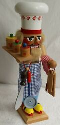 Steinbach Gourmet Chef Nut Cracker 16 1/2 Germany Tags Excellent 227 Condition