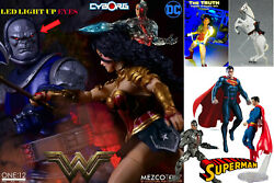 Mezco One12 Wonder Woman And Darkseid Awesome Figure Lot Plus Horse And Fx Lasso