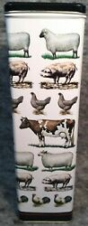 Vintage Dept 56 Farm Animal Tin Container 1 Foot Tall