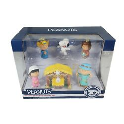 New Peanuts Christmas Nativity Figures Deluxe Set Snoopy Charlie Brown Lucy Etc