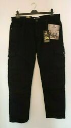 Oggie76 6 Pockets Cargo Jeans For Heavy Motorbikes Black Size 36s Dh004 Ff 09