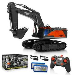 114 Scale Large Remote Control Excavator Toy For Boys And Adults – Black - Red