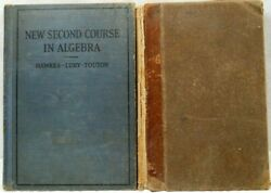 Antique-vintage-collectibles-2nd Course/algebra 1926 And Book Of Geometry-1898