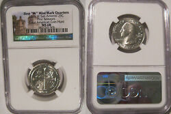 2019 W San Antonio Missions Np Quarter 25c Ngc Ms 68 First Releases West Point