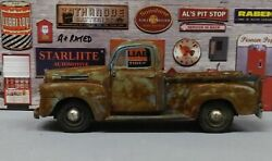 Custom Rusty, Dusty, Weathered 124 G Scale Diecast 1948 F-1 Ford Pickup Truck