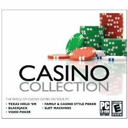 Casino Collection - Pc - Tx Hold Em', Video Poker, Slot Machines New,sealed