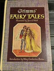 Vintage Hard Cover - Grimmand039s Fairy Tales Illustrated By Jean Oandrsquoneill