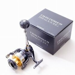 Secondhand T-3007 Shimano Twin Power Sw 6000hg Spinning Reel Right-scroll Wh-119