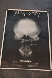 Vintage 1990's Ministry Concert Poster Rock Metal Band 33x24 W/ Free Shipping